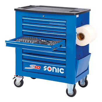 Filled tool trolley S10 391pcs (blue)