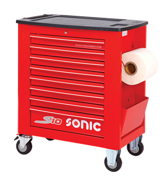 Empty trolley S10 8 drawers red (RAL3001)